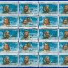 1986 USA UNUSED Scott# 2220-23 - 22c Polar Explorers Partial Sheet of 25 stamps – E4116