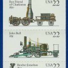 1987 USA UNUSED Scott# 2362-66 - 22c Pane of 5 Locomotives Booklet of 20 stamps – E4116