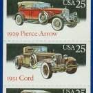 1988 USA UNUSED Scott# 2381-85 - 25c Pane of 5 Classic Cars Booklet of 20 stamps – E4116