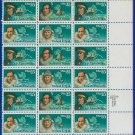 1988 USA UNUSED Scott# 2386-89 - 25c Antarctic Explorers Partial Sheet of 30 stamps – E4116
