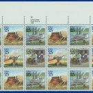 1989 USA UNUSED Sc# 2434-37 - 25c Classic Mail Transportation Partial Sheet of 24  – E4116