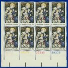 1980 USA MNH UNUSED Sc# 1842 Plate# Block of Eight – 15c Madonna & Child – 1980 Christmas E5592
