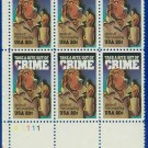 1984 USA MNH Sc# 2102 Plate# Blk of Six – 20c McGruff, The Crime Dog – 1984 Commemoratives E5592