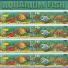 1999 USA UNUSED Scott# 3317-20 - 33c Aquarium Fish Partial Sheet of 16 stamps – E2703