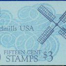 1978-80 USA UNUSED Scott# 1738-42 - 15c Panel of 5 Windmills Booklet of 20 stamps – E9089