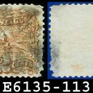 1869 USA USED Scott# 113 – 2c Pony Express Rider – 1869 Pictorial Issues