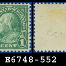 1922-25 USA USED Scott# 552 – 1c Deep Green Franklin – 1922-25 Regular Issue