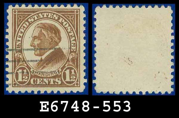 1922-25 USA USED Scott# 553 � 1 1/2c Yellow Brown Harding � 1922-25 Regular Issue