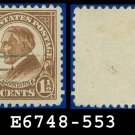 1922-25 USA USED Scott# 553 – 1 1/2c Yellow Brown Harding – 1922-25 Regular Issue