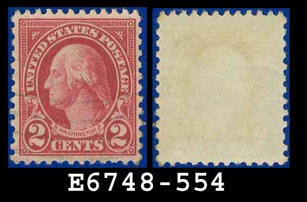1922-25 USA USED Scott# 554 � 2c Carmine Washington � 1922-25 Regular Issue
