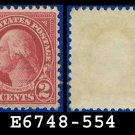 1922-25 USA USED Scott# 554 – 2c Carmine Washington – 1922-25 Regular Issue