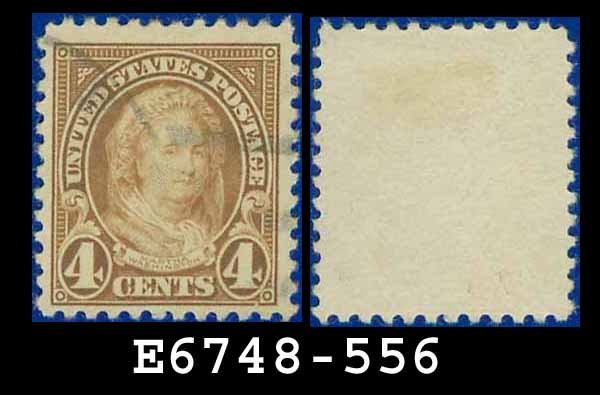 1922-25 USA USED Scott# 556 � 4c Yellow Brown Martha Washington � 1922-25 Regular Issue