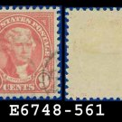 1922-25 USA USED Scott# 561 – 9c Rose Jefferson – 1922-25 Regular Issue