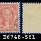 1922-25 USA USED Scott# 561 – 9c Rose Jefferson – 1922-25 Regular Issue