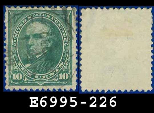 1890-93 USA USED Scott# 226 � 10c Green Webster � 1890-93 Regular Issue