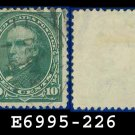 1890-93 USA USED Scott# 226 – 10c Green Webster – 1890-93 Regular Issue