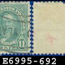 1931 USA USED Scott# 692 - 11c Light Blue Hayes - 1931 Regular Issue
