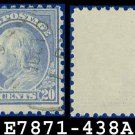1914-15 USA USED Scott# 438 – 20c Ultramarine Franklin – 1914-15 Regular Issue