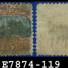 1869 USA USED Scott# 119 – 15c Landing of Columbus Type II – 1869 Pictorial Issues
