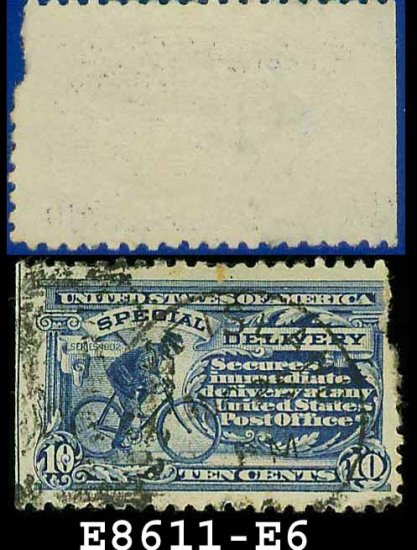 1902 USA USED Scott# E6 � 10c Messenger On Bicycle  � Special Delivery Stamps