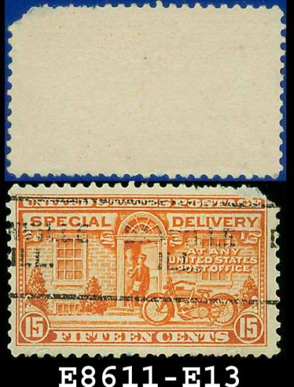 1922-25 USA USED E13 � 15c Orange Motorcycle Delivery - Special Delivery Issue