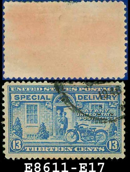 1927-51 USA USED E17 � 13c Blue Motorcycle Delivery - Special Delivery Issue