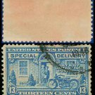 1927-51 USA USED E17 – 13c Blue Motorcycle Delivery - Special Delivery Issue