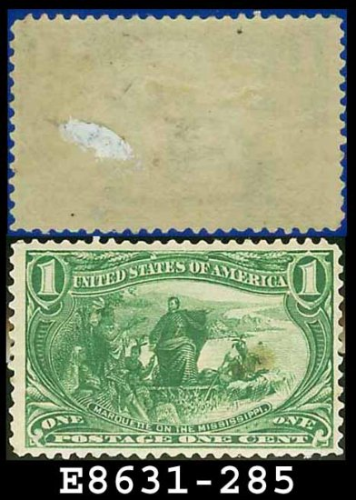 1898 USA UNUSED Scott# 285 � 1c Marquette on the Mississippi � Trans-Mississippi Series