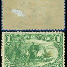 1898 USA UNUSED Scott# 285 – 1c Marquette on the Mississippi – Trans-Mississippi Series