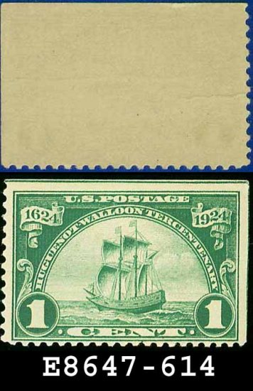 1924 USA UNUSED Scott# 614 � 1c Ship Nieu Nederland � Huguenot-Walloon Issue