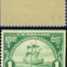 1924 USA UNUSED Scott# 614 – 1c Ship Nieu Nederland – Huguenot-Walloon Issue