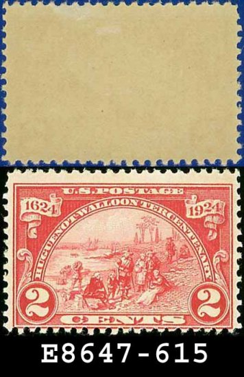 1924 USA UNUSED Scott# 615 � 2c Landing at Fort Orange � Huguenot-Walloon Issue