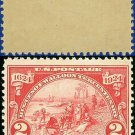 1924 USA UNUSED Scott# 615 – 2c Landing at Fort Orange – Huguenot-Walloon Issue