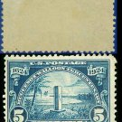 1924 USA UNUSED Scott# 616 – 5c Monument at Mayport, Florida – Huguenot-Walloon Issue