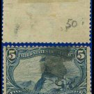 1898 USA USED Scott# 288 – 5c Fremont on the Rocky Mountains – Trans-Mississippi Series