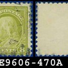 1916-17 USA USED Scott# 470 – 8c Olive Green Franklin – 1916-17 Regular Issue