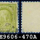 1916-17 USA USED Scott# 470 – 8c Olive Green Franklin – 1916-17 Regular Issue