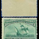 1893 USA UNUSED Scott# 232 – 3c Flag Ship of Columbus – 1893 Columbians