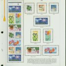 USA MH Sc# 2251 – 74 18 - 22c Comm Stamps Hinge Mounted on ONE White Ace Page – E2703