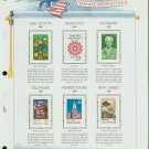 USA MH Sc# 2251, 2336-8, 2349-50 - 6 - 22c Comm Stamps Hinge Mounted on ONE WA Page – E2703