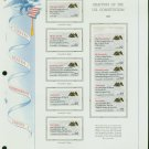 USA MH Sc# 2355 - 59 - 10 - 22c Comm Stamps Hinge Mounted on ONE White Ace Page – E2703