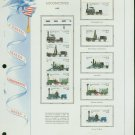 USA MH Scott# 2362 - 66 - 10 - 22c Comm Stamps Hinge Mounted on ONE White Ace Page – E2703