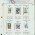 USA MH Scott# 2339 – 71 Six 22c Comm Stamps Hinge Mounted on ONE White Ace Page – E2703