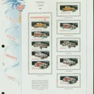 USA MH Sc# 2381 – 85 Ten UNUSED 25c Stamps Hinge Mounted on ONE White Ace ALBUM Page – E2703