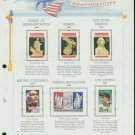 USA MH Sc# 2411 – 17, C120 - 6 UNUSED Stamps Hinge Mounted on ONE White Ace ALBUM Page – E2703