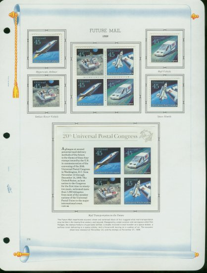 USA MH Sc# C122 - 26 - 12 UNUSED 45c Airmail Stamps Hinge Mounted on ONE WA ALBUM Page � E2703