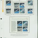 USA MH Sc# C122 - 26 - 12 UNUSED 45c Airmail Stamps Hinge Mounted on ONE WA ALBUM Page – E2703