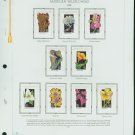 USA MH Sc# 2647 – 96 - 50 - 29c American Wildflowers Stamps Hinge Mounted on 5 WA Pages – E2703