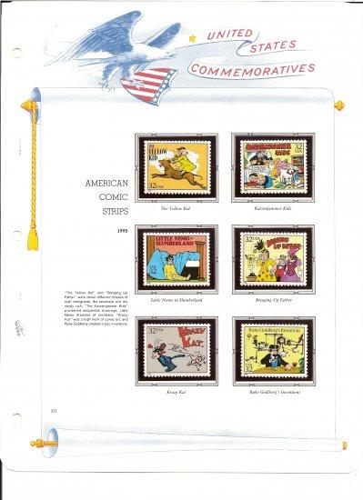 USA Sc# 3000 - 20 MNHOG UNUSED 32c American Comic Stamps Mounted on 3 WA ALBUM Page � E8337