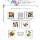 USA Sc# 3185 – 15 MH UNUSED 32c Fourth Decade Stamps Mounted on 2 WA ALBUM Pages – E2703
